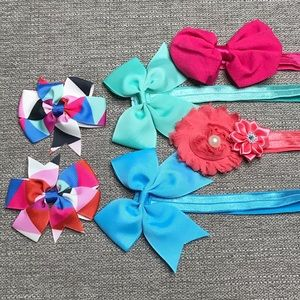 3/$20❤️❤️❤️ pink, blue, coral, & teal headband lot